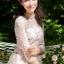 ชุดเดรสเกาหลี พร้อมส่งLong dress สีชมพูโอรส แขน 5 ส่วน thumbnail 3
