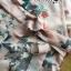 ชุดเดรสเกาหลี พร้อมส่งเดรสผ้าวิสโคสสีชมพูพิมพ์ลายธรรมชาติ thumbnail 12