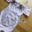 ชุดเดรสเกาหลี พร้อมส่งเดรสผ้าเครปสีชมพูทรงสายเดี่ยวเปิดไหล thumbnail 9