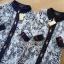 เสื้อผ้าเกาหลี พร้อมส่งเชิ้ตเดรสผ้าลูกไม้ทับผ้าโพลีเอสเตอร์ประดับกระดุม thumbnail 11