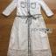 Leslie Smart Elegant White Lace Dress with Ribbon thumbnail 7
