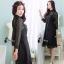 ชุดเดรสเกาหลี พร้อมส่งMini dress แขนประมาณข้อศอก thumbnail 5