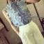 เสื้อผ้าเกาหลี พร้อมส่งเซ็ทเสื้อ+กางเกง เสื้อผ้า cotton สีฟ้า thumbnail 3