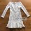 ชุดเดรสเกาหลี พร้อมส่งเดรสผ้าลูกไม้สีขาวสไตล์วินเทจ ลุคนี้เป็นสาวเฟมินีน thumbnail 13