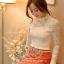 เสื้อผ้าเกาหลี พร้อมส่ง เสื้อลูกไม้สีขาว ดีเทลแขนยาว ผ้าเกรดดีเนื้อนิ่มมาก thumbnail 9