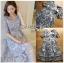 ชุดเดรสเกาหลีพร้อมส่ง ค็อกเทลเดรสผ้าทูลเลปักลายลูกไม้ thumbnail 6