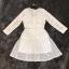 ชุดเดรสเกาหลี พร้อมส่งCrystal White Luxury Self Portrait Stilysh Lace Dress thumbnail 7