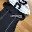 ชุดเดรสเกาหลีพร้อมส่ง เดรสผ้าลูกไม้และผ้าเครปสีขาว-ดำต thumbnail 10