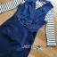 เสื้อผ้าเกาหลี พร้อมส่งเซ็ตเดรสเดนิมสวมทับเสื้อแขนยาวลายทางสไตล์สมาร์ทแคชชวล thumbnail 9