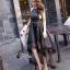 ชุดเดรสเกาหลี พร้อมส่ง Long Dress ช่วงบนทำด้วยผ้าตาข่ายลายลูกไม้ thumbnail 5