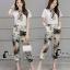 เสื้อผ้าเกาหลี พร้อมส่งWhite Shirt + Color Camo Pant Set thumbnail 1