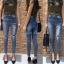 เสื้อผ้าเกาหลีพร้อมส่ง กางเกงยีนส์เอวสูงทรงสกินนี่ สไตล์ Zara thumbnail 7