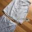 เสื้อผ้าแฟชั่น พร้อมส่งเซ็ตเสื้อแขนกุดผ้าเครปสีเทาตกแต่งคริสตัลและกระโปรงลูกไม้สีเทา thumbnail 7