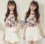 เสื้อผ้าเกาหลี พร้อมส่งLady Emily Floral Printout set thumbnail 5