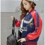 เสื้อผ้าเกาหลี พร้อมส่งบอมเบอร์แจ๊คเก็ตผ้าซาตินปักลายสีสดใส thumbnail 8