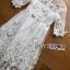 ชุดเดรสเกาหลี พร้อมส่งเดรสผ้าลูกไม้สีขาวปักลายผีเสื้อ thumbnail 10