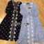 ชุดเดรสเกาหลี พร้อมส่งเดรสยาวผ้าชีฟองปักลายสไตล์บีช thumbnail 15