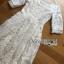 ชุดเดรสแฟชั่น พร้อมส่งเดรสผ้าลูกไม้สีขาวสไตล์เจ้าหญิงคลาสสิก thumbnail 10