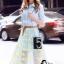 เสื้อผ้าเกาหลี พร้อมส่งAzura Skyblue Shirt + Embroidered Luxury Skirt thumbnail 3