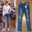 เสื้อผ้าเกาหลีพร้อมส่ง กางเกงยีนส์CC DOUBLE O ปักนก thumbnail 9