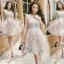 ชุดเดรสเกาหลีพร้อมส่ง Joy Happy Life Luxury Dress thumbnail 4
