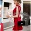 เสื้อผ้าเกาหลี พร้อมส่งค็อกเทลเดรสผ้าโพลีเอสเตอร์ตกแต่งริบบิ้นสไตล์เซ็กซี่ thumbnail 9