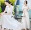 ชุดเดรสเกาหลี พร้อมส่งเดรสยาวผ้าลูกไม้สีขาวสไตล์ลำลอง thumbnail 18