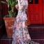 ชุดเดรสแฟชั่น พร้อมส่งเดรสชีฟองรุ่นนี้ แขนระบายลายดอก สวยมาก thumbnail 2