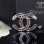 พร้อมส่ง Chanel Brooch สไตล์ Logo ตัว C ดีไซด์เก๋ไก๋ เพชร 2 ชั้น thumbnail 3