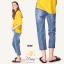 เสื้อผ้าแฟชั่นพร้อมส่ง กางเกงยีนส์ทรงเดฟ ผ้ายีนส์ฮ่องกง thumbnail 7