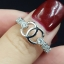 พร้อมส่ง แหวน Chanel เพชรรอบวง โลโก้ชาแนลด้านบน thumbnail 3