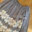เสื้อผ้าเกาหลี พร้อมส่งเสื้อยาวผ้าชีฟองทรงเปิดไหล่ปักลูกไม้ thumbnail 9