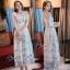 ชุดเดรสเกาหลี พร้อมส่งlong dress ผ้ามุ้งแขน 5 ส่วน thumbnail 8