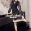 Elegantly Black Chiffon Sleeve Dress thumbnail 1