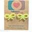ต่างหูพลาสติก,ต่างหูก้านพลาสติก,ต่างหูเด็ก E29018 The Ribbon (Green Apple) thumbnail 1