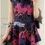 Colourful Embroidered Mini Dress thumbnail 8