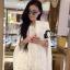 ชุดเดรสเกาหลี พร้อมส่งMini Dress สีขาว ทรงทันสมัย thumbnail 2