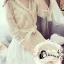 ชุดเดรสเกาหลี พร้อมส่งLuxury Lace Diamond V Cross Dress thumbnail 3