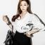 เสื้อผ้าเกาหลี พร้อมส่งเซ็ทเสื้อกับกางเกง ลุคChic&Casual thumbnail 2