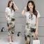 เสื้อผ้าเกาหลี พร้อมส่งWhite Shirt + Color Camo Pant Set thumbnail 4