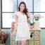 ชุดเดรสเกาหลี พร้อมส่งLuxury Lace Pricess Dress thumbnail 3