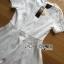 ชุดเดรสเกาหลี พร้อมส่งเดรสผ้าโพลีเอสเตอร์ตัดต่อลูกไม้สีขาวสไตล์เฟมินีน thumbnail 6