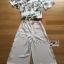 เสื้อผ้าเกาหลี พร้อมส่งเซ็ตเสื้อพิมพ์ลายดอกไม้สไตล์วินเทจและกางเกงทรง culottes ลุคนี้มาแบบเข้าชุด thumbnail 10