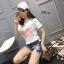 เสื้อผ้าแฟชั่นเกาหลีพร้อมส่ง ชุดเซท เสื้องานปักหงส์ตกแต่งชวาลอปกี้ thumbnail 4