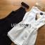 เสื้อผ้าเกาหลี พร้อมส่งจัมป์สูทขาสั้นติดกระดุมสไตล์มินิมัลชิคพร้อมโชคเกอร์ thumbnail 14