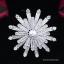 พร้อมส่ง Diamond Brooch เข็มกลัดงานเพชร CZ แท้ประดับมุก thumbnail 1