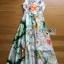 ชุดเดรสเกาหลี พร้อมส่งเดรสยาวผ้าซาตินพิมพ์และปักลายดอกไม้ thumbnail 12