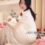 ชุดเดรสเกาหลี พร้อมส่งเดรสยาวผ้าลูกไม้สีขาวตกแต่งระบายสไตล์โรแมนติก thumbnail 7