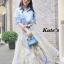เสื้อผ้าเกาหลี พร้อมส่งกรี๊ดหนักมาก กับชุด Set เสื้อเชิ๊ตคอปกทรงยาวสีฟ้าสดใส thumbnail 9