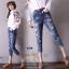เสื้อผ้าเกาหลี พร้อมส่งกางเกงยีนส์ ทรงบอย ผ้ายีนส์ฮ่องกง thumbnail 3